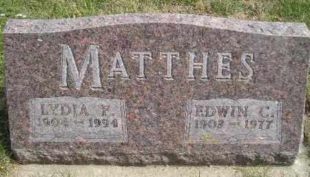 MATTHES, LYDIA F. - Codington County, South Dakota   LYDIA F. MATTHES - South Dakota Gravestone Photos