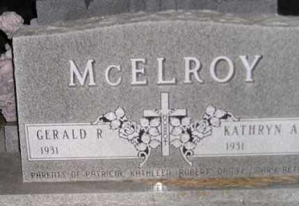 MCELROY, GERALD R. - Codington County, South Dakota | GERALD R. MCELROY - South Dakota Gravestone Photos