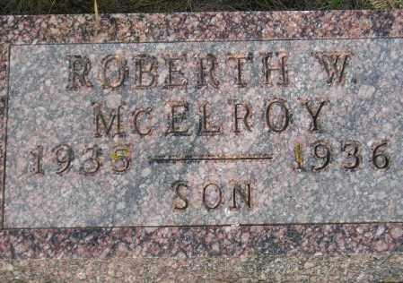MCELROY, ROBERTH WAYNE - Codington County, South Dakota | ROBERTH WAYNE MCELROY - South Dakota Gravestone Photos