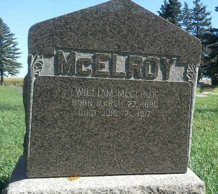 MCELROY, WILLIAM - Codington County, South Dakota | WILLIAM MCELROY - South Dakota Gravestone Photos
