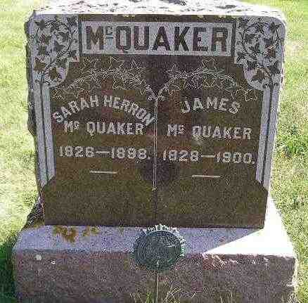 MCQUAKER, SARAH - Codington County, South Dakota | SARAH MCQUAKER - South Dakota Gravestone Photos