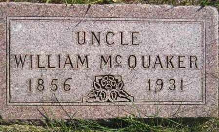 MCQUAKER, WILLIAM - Codington County, South Dakota | WILLIAM MCQUAKER - South Dakota Gravestone Photos