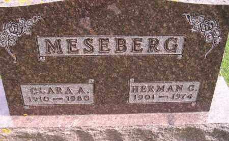 MESEBERG, CLARA A. - Codington County, South Dakota | CLARA A. MESEBERG - South Dakota Gravestone Photos