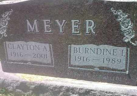 MEYER, BURNDINE I - Codington County, South Dakota | BURNDINE I MEYER - South Dakota Gravestone Photos