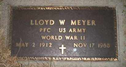 MEYER, LLOYD W. (WW II) - Codington County, South Dakota | LLOYD W. (WW II) MEYER - South Dakota Gravestone Photos