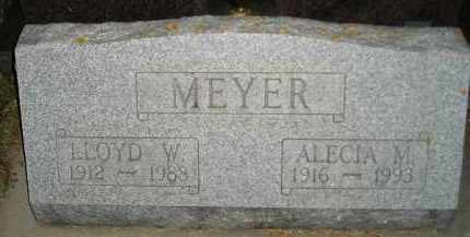 MEYER, LLOYD W. - Codington County, South Dakota | LLOYD W. MEYER - South Dakota Gravestone Photos
