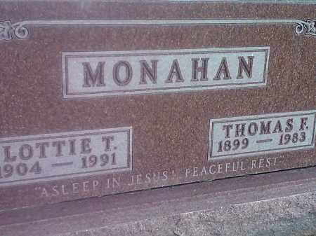 MONAHAN, LOTTIE T - Codington County, South Dakota | LOTTIE T MONAHAN - South Dakota Gravestone Photos
