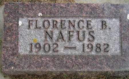 HAYWOOD NAFUS, FLORENCE B. - Codington County, South Dakota | FLORENCE B. HAYWOOD NAFUS - South Dakota Gravestone Photos