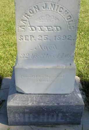 NICHOLS, AARON J. - Codington County, South Dakota | AARON J. NICHOLS - South Dakota Gravestone Photos