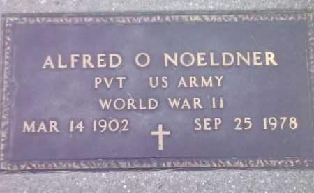 NOELDNER, ALFRED O (MILITARY) - Codington County, South Dakota | ALFRED O (MILITARY) NOELDNER - South Dakota Gravestone Photos