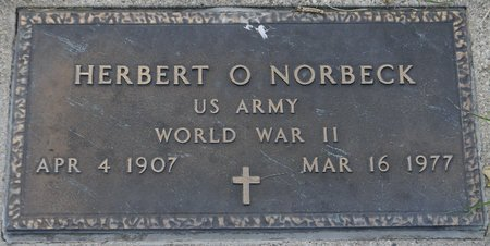 NORBECK, HERBERT O. (MILITARY) - Codington County, South Dakota | HERBERT O. (MILITARY) NORBECK - South Dakota Gravestone Photos