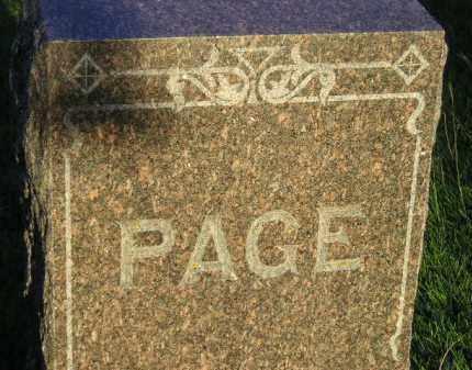 PAGE, FAMILY STONE - Codington County, South Dakota | FAMILY STONE PAGE - South Dakota Gravestone Photos