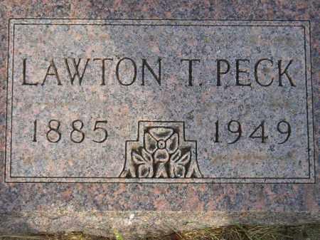 PECK, LAWTON T. - Codington County, South Dakota | LAWTON T. PECK - South Dakota Gravestone Photos