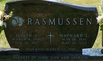 AMUNDSON RASMUSSEN, JUDITH ANN - Codington County, South Dakota   JUDITH ANN AMUNDSON RASMUSSEN - South Dakota Gravestone Photos