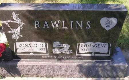 CHRISTIANSON RAWLINS, ROMAGENE - Codington County, South Dakota | ROMAGENE CHRISTIANSON RAWLINS - South Dakota Gravestone Photos