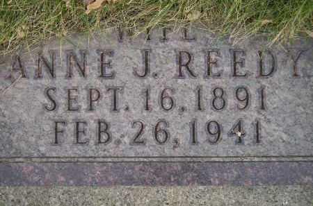 REEDY, ANNE J. - Codington County, South Dakota | ANNE J. REEDY - South Dakota Gravestone Photos