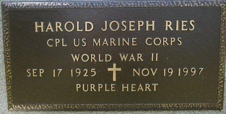 RIES, HAROLD JOSEPH (MILITARY) - Codington County, South Dakota | HAROLD JOSEPH (MILITARY) RIES - South Dakota Gravestone Photos