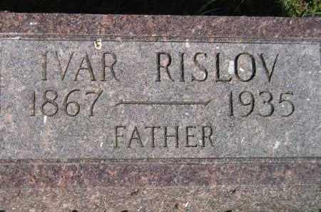 RISLOV, IVAR - Codington County, South Dakota | IVAR RISLOV - South Dakota Gravestone Photos