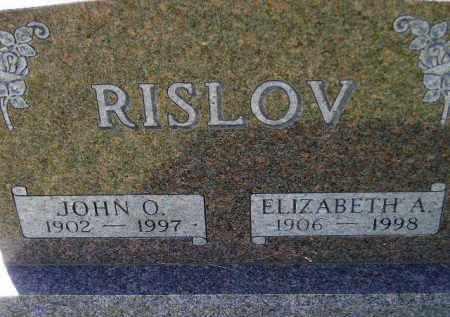 RISLOV, ELIZABETH A. - Codington County, South Dakota | ELIZABETH A. RISLOV - South Dakota Gravestone Photos