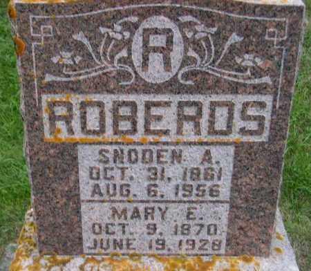 ROBERDS, SNODEN ARILUS - Codington County, South Dakota | SNODEN ARILUS ROBERDS - South Dakota Gravestone Photos
