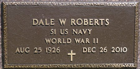 ROBERTS, DALE W. MILITARY) - Codington County, South Dakota | DALE W. MILITARY) ROBERTS - South Dakota Gravestone Photos