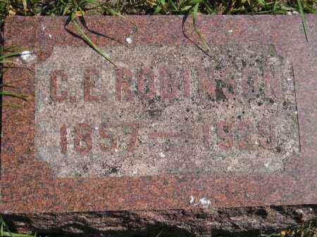ROBINSON, CHARLES EDWARD - Codington County, South Dakota | CHARLES EDWARD ROBINSON - South Dakota Gravestone Photos