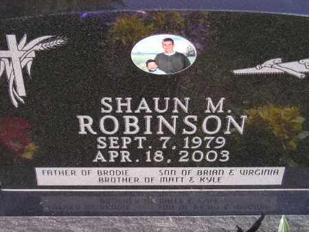 ROBINSON, SHAUN M. - Codington County, South Dakota | SHAUN M. ROBINSON - South Dakota Gravestone Photos