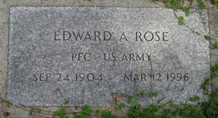 ROSE, EDWARD A. - Codington County, South Dakota | EDWARD A. ROSE - South Dakota Gravestone Photos