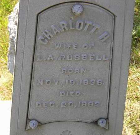 RUSSELL, CHARLOTT H. - Codington County, South Dakota | CHARLOTT H. RUSSELL - South Dakota Gravestone Photos