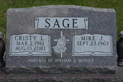 SALENTES SAGE, CRISTY L. - Codington County, South Dakota | CRISTY L. SALENTES SAGE - South Dakota Gravestone Photos