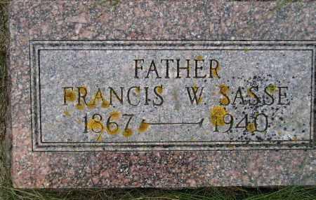 SASSE, FRANCIS WILLIAM - Codington County, South Dakota | FRANCIS WILLIAM SASSE - South Dakota Gravestone Photos