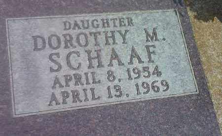 SCHAAF, DOROTHY M - Codington County, South Dakota | DOROTHY M SCHAAF - South Dakota Gravestone Photos