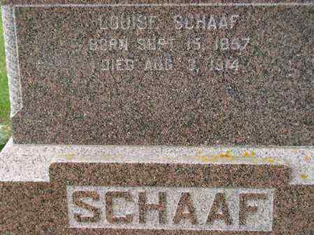 SCHAAF, LOUISE - Codington County, South Dakota | LOUISE SCHAAF - South Dakota Gravestone Photos