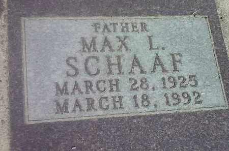 SCHAAF, MAX L - Codington County, South Dakota   MAX L SCHAAF - South Dakota Gravestone Photos