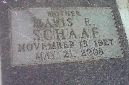 SCHAAF, MAVIS E - Codington County, South Dakota | MAVIS E SCHAAF - South Dakota Gravestone Photos