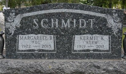 "SCHMIDT, MARGARETE B. ""PEG"" - Codington County, South Dakota | MARGARETE B. ""PEG"" SCHMIDT - South Dakota Gravestone Photos"