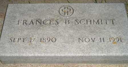 SCHMITT, FRANCES B. - Codington County, South Dakota | FRANCES B. SCHMITT - South Dakota Gravestone Photos