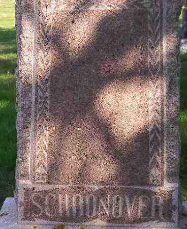 SCHOONOVER, FAMILY STONE - Codington County, South Dakota | FAMILY STONE SCHOONOVER - South Dakota Gravestone Photos
