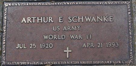 SCHWANKE, ARTHUR E. (MILITARY) - Codington County, South Dakota   ARTHUR E. (MILITARY) SCHWANKE - South Dakota Gravestone Photos