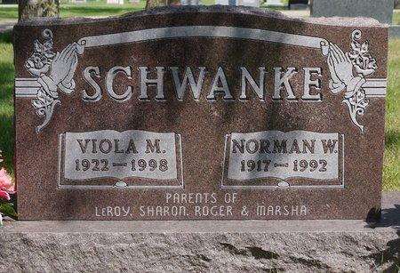 SCHWANKE, NORMAN W. - Codington County, South Dakota   NORMAN W. SCHWANKE - South Dakota Gravestone Photos