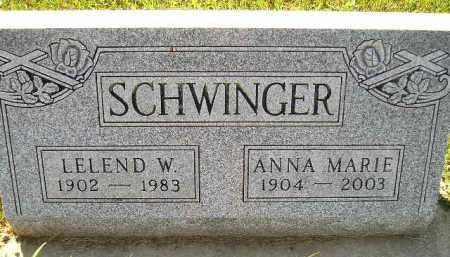SCHWINGER, LELEND WALTER - Codington County, South Dakota | LELEND WALTER SCHWINGER - South Dakota Gravestone Photos