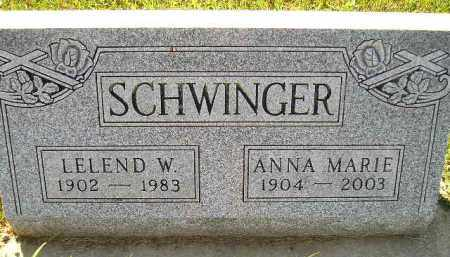 SCHWINGER, ANNA MARIE - Codington County, South Dakota   ANNA MARIE SCHWINGER - South Dakota Gravestone Photos