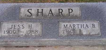 SHARP, JESS H. - Codington County, South Dakota | JESS H. SHARP - South Dakota Gravestone Photos