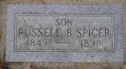 SPICER, RUSSELL B. - Codington County, South Dakota | RUSSELL B. SPICER - South Dakota Gravestone Photos
