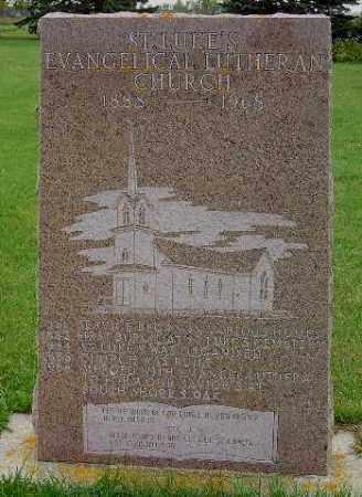 *ST. LUKE'S, CHURCH MARKER - Codington County, South Dakota | CHURCH MARKER *ST. LUKE'S - South Dakota Gravestone Photos