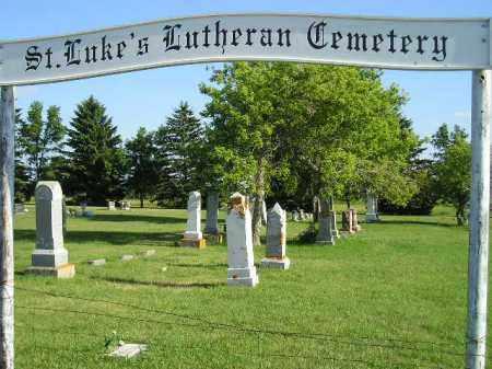 *ST. LUKE'S LUTHERAN, ENTRANCE - Codington County, South Dakota | ENTRANCE *ST. LUKE'S LUTHERAN - South Dakota Gravestone Photos