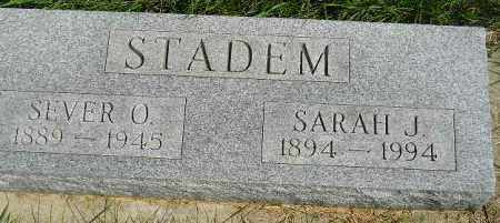 STADEM, SEVER O. - Codington County, South Dakota | SEVER O. STADEM - South Dakota Gravestone Photos