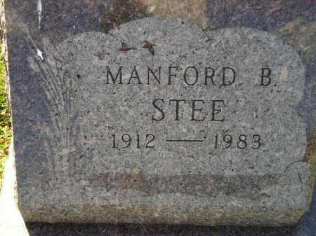 STEE, MANFORD B. - Codington County, South Dakota | MANFORD B. STEE - South Dakota Gravestone Photos