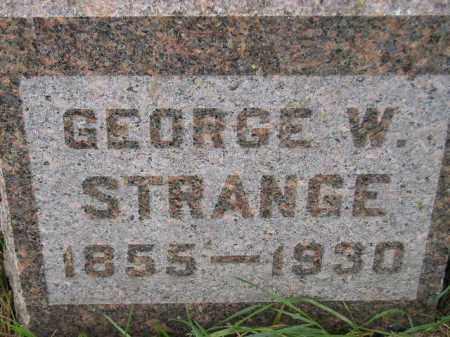 STRANGE, GEORGE WILMOT - Codington County, South Dakota | GEORGE WILMOT STRANGE - South Dakota Gravestone Photos