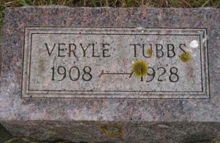 TUBBS, VERYLE - Codington County, South Dakota   VERYLE TUBBS - South Dakota Gravestone Photos